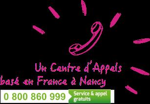 Contactez-nous par téléphone du lundi au vendredi